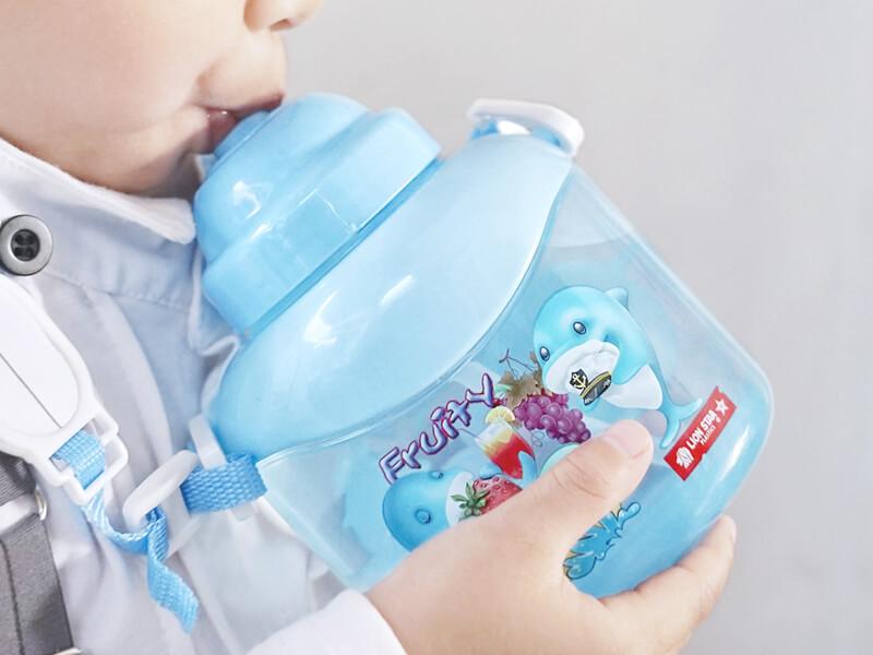 Botol Minum Anak Lion Star Navy Bottle Oval